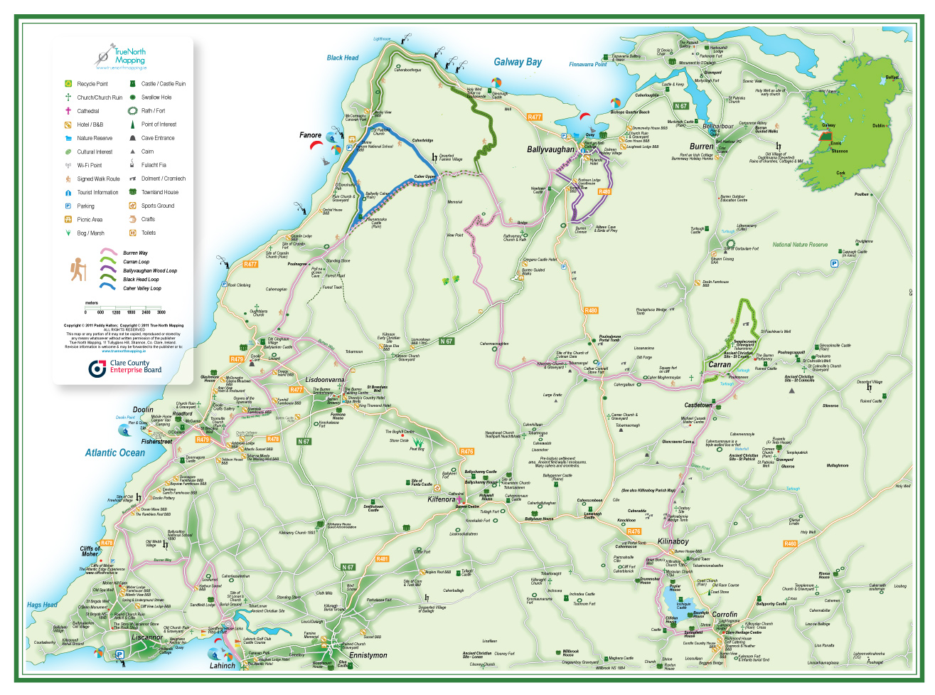 North Clare Map